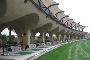 Golf Driving Range Modern Green Architecture 10