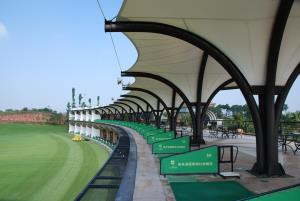 Golf Driving Range Modern Green Architecture 5