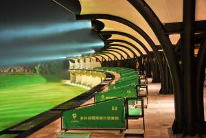 Golf Driving Range Modern Green Architecture 6