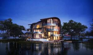 Luxelakes Black Pearl Modern Green Architecture 1