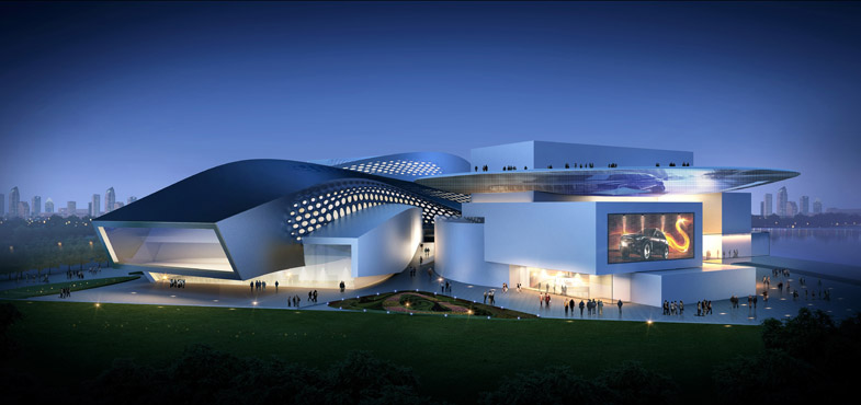 Qingdao center china modern green architect patel for National centre for the performing arts architecture